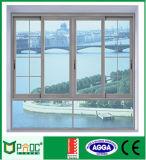 アルミニウムフレームのスライディングウインドウの二重ガラス窓