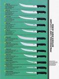 De Kleur van de Messen van de Slager van het Mes van de keuken codeerde het Bestek van de Levering van de Slager van Handvatten Knippend Messen