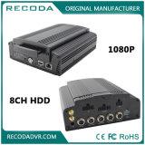 8CH HDD 1080P 4G 8cameras Mobile DVR para monitoramento de veículos