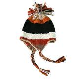 Earflap 모자 (JRK025)가 소녀에 의하여 뜨개질을 했다