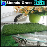 grama artificial verde de 25mm com revestimento protetor impermeável do látex de SBR