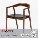 食堂の夕食の木のクルミの純木の椅子