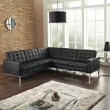 [ليفينغرووم] أثاث لازم منزل أسود جلد ركن أريكة ([أول-نسك075])