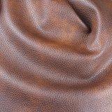 Cuoio artificiale del PVC di spessore del grano 1.2mm del litchi per il tessuto del sofà (788#)