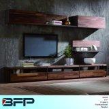 Estilo de luxo madeira moderno conjunto de banco de gabinete de TV