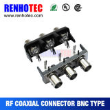 BNC al connettore ad angolo retto del supporto del PWB del RCA