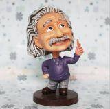 La résine faite sur commande de vente chaude Einstein Bobble la tête pour des cadeaux
