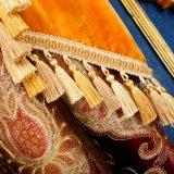 Tessuto lussuoso della tenda della camera da letto del fornitore con la rappezzatura