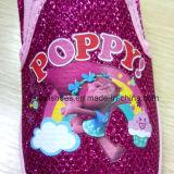 Il banco dello Slip-on dei pattini del capretto del fumetto del papavero calza i pattini dell'iniezione (FF921-7)