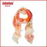 ISO Cerificated Digital Printing Lady Silk Scarf (HYS-AF001)