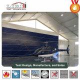Estrutura da barraca do hangar do abrigo de aviões para o plano de ar do jato