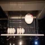 Gabinete de cozinha de pintura branca de alto brilho moderno