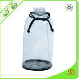 プラスチックPVC明確なドローストリングの洗面用品袋