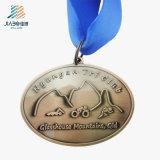 Medaglione su ordinazione Bronze in lega di zinco del Triathlon di Jiabo con il nastro