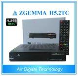 Mais novo receptor de satélite Zgemma H5.2tc Combo com DVB-S2 + 2 * DVB-T2/C três sintonizadores H. 265 Hevc descodificador de satélite