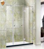 Tela de chuveiro do vidro Tempered da qualidade/porta excelentes do chuveiro com aço inoxidável