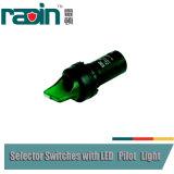 Pulsante degli interruttori selezionati della fiamma pilota con il LED