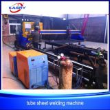 Máquina que ranura eficiente del corte de llama del plasma del CNC para la hoja de acero/el tubo