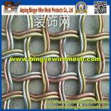Латунным гофрированная Weave декоративная ячеистая сеть для сбывания