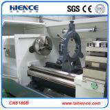Máquina hidráulica horizontal Ck6180b do torno do CNC do mandril