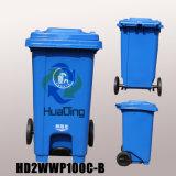 balde do lixo de borracha plástico da roda do escaninho de lixo 100L para HD2wnp120c-B ao ar livre