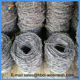 電流を通された2つの繊維の有刺鉄線