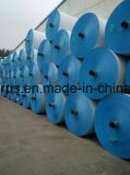 완성되는 파란 주황색 PE 방수포 장, 트럭 덮개 방수포