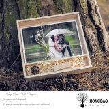 Doos van het Album van de Foto van de Kleur van Hongdao de Natuurlijke Houten met het Glijden de Groothandelsprijs _E van het Deksel