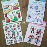 3D Stickers van het Document van het Plakboek van Kerstmis van de douane 3D Dimensionale Met de hand gemaakte