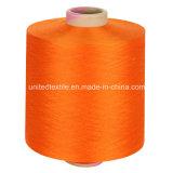 Gummiband 100% des Polyester-Garn-DTY niedrig mit 600d/192f er orange