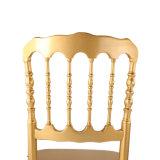 結婚式およびイベントのための金の純木のナポレオンの椅子