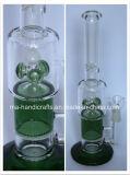 녹색 소용돌이 꿀 빗 Perc 연기가 나기를 위한 유리제 수관