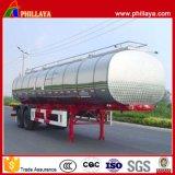 Várias capacidades Tri-Eixo Petroleiro de combustível de aço inoxidável semi reboque
