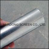 Acero inoxidable 316L Vela Filtro redondez ranurado filtro del tubo para la industria de la cerveza