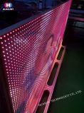 Visualización de LED de cristal de la pared de la pantalla de los Transporte-Ojos LED con ultra la transparencia