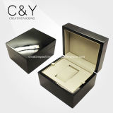 Mens популярного черного лака рояля деревянные определяют коробку вахты упаковывая