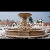 Fontana dorata del granito della sabbia per la mobilia Mf-1047 del giardino