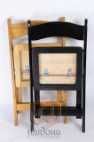 Schwarze Farben-hölzerner faltender Partei-Stuhl