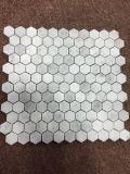 Hexagon Gouden Opgepoetst/het Geslepen Calacatta Marmeren Mozaïek van de Steen