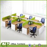 Poste de travail en forme de L de bureau de modèle de 6 Seater Modren