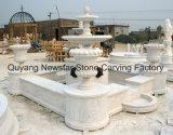 Каменный высекая фонтан мрамора характеристики воды скульптуры с баком плантатора