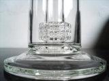Tubulação de vidro de fumo da cor desobstruída com Percolator do pneumático
