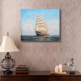 Het Schilderen van de kunst van Varend Schip op Overzees