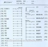 18のチャネルの押しボタンのクレーン制御端末