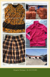 Gebruikte Kleding van Koreaanse Stijl Dame Fashion Chilffon Dress voor Afrikaanse Markt