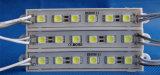 DV12V 5050 módulo do diodo emissor de luz de 6 microplaquetas para o sinal do metal