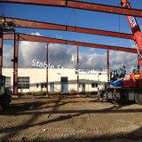 Alemania la construcción de acero prefabricados Hall edificio con una grúa