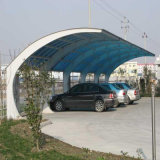 La tettoia industriale progetta i progetti prefabbricati della costruzione di edifici del metallo