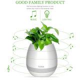Altoparlante di musica del Flowerpot di Bluetooth, battente senza fili dell'altoparlante di Bluetooth con il LED