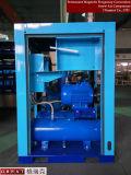 &#160 mû par courroie ; Compresseur d'air lubrifié de vis avec le réservoir d'air